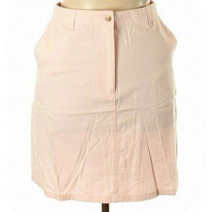 L.L.Bean Solid Casual Pocket Skirt Size 14 Pink